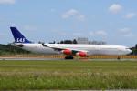 kuro2059さんが、成田国際空港で撮影したスカンジナビア航空 A340-313Xの航空フォト(飛行機 写真・画像)