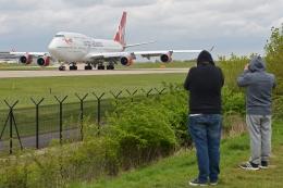 flytaka78さんが、マンチェスター空港で撮影したヴァージン・アトランティック航空 747-443の航空フォト(飛行機 写真・画像)