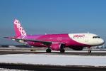 セブンさんが、新千歳空港で撮影したピーチ A320-214の航空フォト(飛行機 写真・画像)
