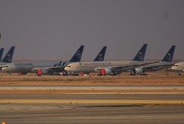 KAZKAZさんが、キング・ハーリド国際空港で撮影したサウディア 777-268/ERの航空フォト(飛行機 写真・画像)
