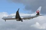 どんちんさんが、福岡空港で撮影した日本航空 737-846の航空フォト(飛行機 写真・画像)