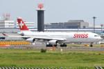 kuro2059さんが、成田国際空港で撮影したスイスインターナショナルエアラインズ A340-313Xの航空フォト(飛行機 写真・画像)
