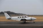 LEVEL789さんが、岡山空港で撮影した朝日航空 G58 Baronの航空フォト(飛行機 写真・画像)