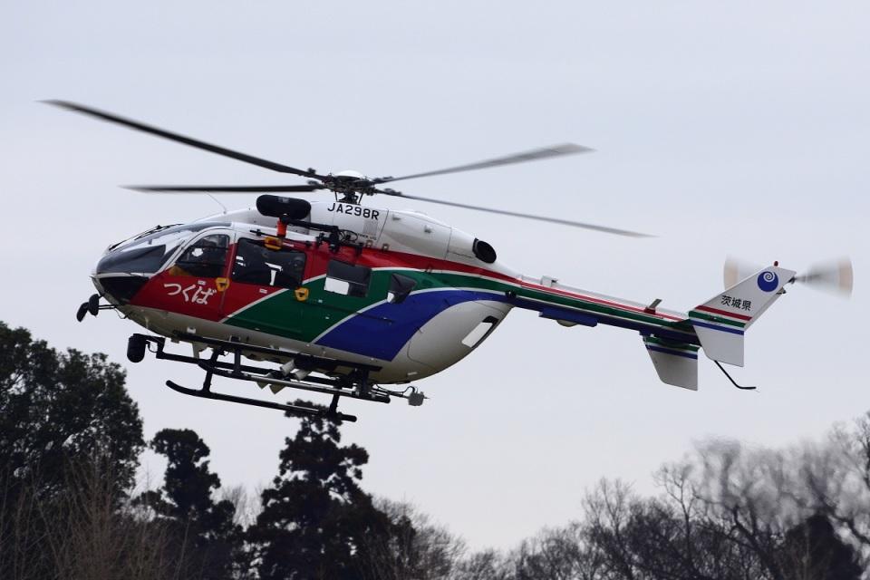 =JAかみんD=さんの茨城県防災航空隊 Kawasaki BK117 (JA298R) 航空フォト