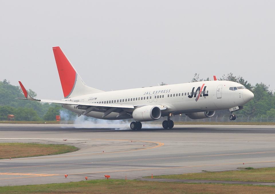 ふじいあきらさんのJALエクスプレス Boeing 737-800 (JA308J) 航空フォト