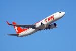 ちゃぽんさんが、成田国際空港で撮影したティーウェイ航空 737-8Q8の航空フォト(飛行機 写真・画像)