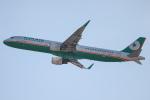 代打の切札さんが、関西国際空港で撮影したエバー航空 A321-211の航空フォト(飛行機 写真・画像)