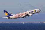 わんだーさんが、中部国際空港で撮影したスカイマーク 737-86Nの航空フォト(飛行機 写真・画像)