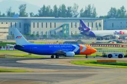 ちっとろむさんが、シンガポール・チャンギ国際空港で撮影したマイ・インド・エアラインズ 737-3Z0(SF)の航空フォト(飛行機 写真・画像)