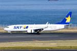panchiさんが、羽田空港で撮影したスカイマーク 737-8HXの航空フォト(飛行機 写真・画像)