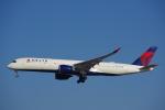 JA8037さんが、成田国際空港で撮影したデルタ航空 A350-941XWBの航空フォト(飛行機 写真・画像)