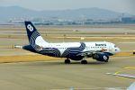 まいけるさんが、仁川国際空港で撮影したオーロラ A319-111の航空フォト(飛行機 写真・画像)