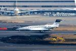 まいけるさんが、羽田空港で撮影したアメリカ企業所有 Gulfstream G650 (G-VI)の航空フォト(飛行機 写真・画像)