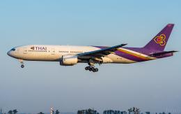 ひげじいさんが、仙台空港で撮影したタイ国際航空 777-2D7の航空フォト(飛行機 写真・画像)