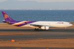 きんめいさんが、中部国際空港で撮影したタイ国際航空 A330-343Xの航空フォト(飛行機 写真・画像)