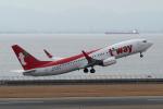 yabyanさんが、中部国際空港で撮影したティーウェイ航空 737-85Rの航空フォト(飛行機 写真・画像)