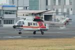 あきらっすさんが、東京ヘリポートで撮影した朝日航洋 AS332L Super Pumaの航空フォト(飛行機 写真・画像)