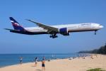 TIA spotterさんが、プーケット国際空港で撮影したアエロフロート・ロシア航空 777-3M0/ERの航空フォト(飛行機 写真・画像)