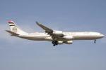 エアさんが、成田国際空港で撮影したエティハド航空 A340-541の航空フォト(飛行機 写真・画像)