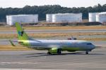 こうきさんが、成田国際空港で撮影したジンエアー 737-8SHの航空フォト(飛行機 写真・画像)