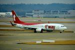 まいけるさんが、仁川国際空港で撮影したティーウェイ航空 737-8Q8の航空フォト(飛行機 写真・画像)