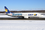sky77さんが、新千歳空港で撮影したスカイマーク 737-86Nの航空フォト(飛行機 写真・画像)