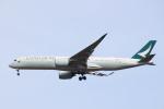 エアさんが、成田国際空港で撮影したキャセイパシフィック航空 A350-941XWBの航空フォト(飛行機 写真・画像)
