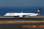 DVDさんが、羽田空港で撮影したルフトハンザドイツ航空 A350-941XWBの航空フォト(飛行機 写真・画像)