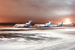 きまぐれまささんが、プルコヴォ空港で撮影したプルコヴァ航空(nyakobo Pulkovo) Tu-154B-2の航空フォト(飛行機 写真・画像)