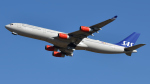 saoya_saodakeさんが、成田国際空港で撮影したスカンジナビア航空 A340-313Xの航空フォト(飛行機 写真・画像)