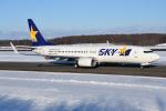 sky77さんが、新千歳空港で撮影したスカイマーク 737-8ALの航空フォト(飛行機 写真・画像)