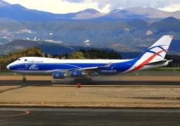 LOTUSさんが、鹿児島空港で撮影したカーゴロジックエア 747-446F/SCDの航空フォト(飛行機 写真・画像)