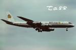 tassさんが、ロンドン・ガトウィック空港で撮影したアフレットエア DC-8-55CF Jet Traderの航空フォト(飛行機 写真・画像)