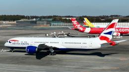 ららぞうさんが、成田国際空港で撮影したブリティッシュ・エアウェイズ 787-9の航空フォト(飛行機 写真・画像)