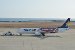 nontan8さんが、神戸空港で撮影したスカイマーク 737-8ALの航空フォト(飛行機 写真・画像)