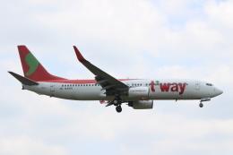 デルさんが、成田国際空港で撮影したティーウェイ航空 737-8KGの航空フォト(飛行機 写真・画像)