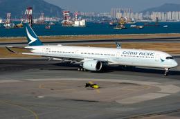 少年のjasonさんが、香港国際空港で撮影したキャセイパシフィック航空 A350-1041の航空フォト(飛行機 写真・画像)