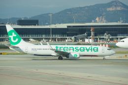 JA8037さんが、バルセロナ空港で撮影したトランサヴィア・フランス 737-8K2の航空フォト(飛行機 写真・画像)