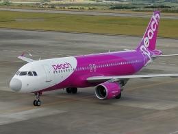 スカイマンタさんが、新石垣空港で撮影したピーチ A320-214の航空フォト(飛行機 写真・画像)