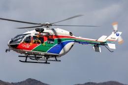 T spotterさんが、つくばヘリポートで撮影した茨城県防災航空隊 BK117C-2の航空フォト(飛行機 写真・画像)
