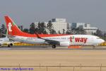 Chofu Spotter Ariaさんが、成田国際空港で撮影したティーウェイ航空 737-8Q8の航空フォト(飛行機 写真・画像)