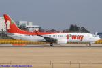 Chofu Spotter Ariaさんが、成田国際空港で撮影したティーウェイ航空 737-86Nの航空フォト(飛行機 写真・画像)