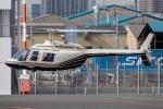 まんぼ しりうすさんが、東京ヘリポートで撮影したヘリサービス 206B-3 JetRanger IIIの航空フォト(飛行機 写真・画像)