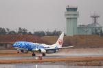kenzy201さんが、小松空港で撮影した日本トランスオーシャン航空 737-8Q3の航空フォト(飛行機 写真・画像)
