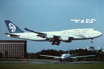 tassさんが、成田国際空港で撮影したニュージーランド航空 747-419の航空フォト(飛行機 写真・画像)