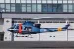 KAZFLYERさんが、東京ヘリポートで撮影した警視庁 412EPの航空フォト(飛行機 写真・画像)