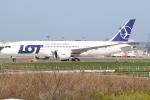 エアさんが、成田国際空港で撮影したLOTポーランド航空 787-8 Dreamlinerの航空フォト(飛行機 写真・画像)