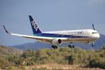 ピーチさんが、岡山空港で撮影した全日空 767-381/ERの航空フォト(飛行機 写真・画像)