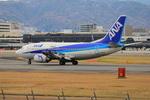 ふじいあきらさんが、伊丹空港で撮影したANAウイングス 737-5Y0の航空フォト(飛行機 写真・画像)