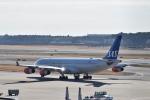 ポークさんが、成田国際空港で撮影したスカンジナビア航空 A340-313Xの航空フォト(飛行機 写真・画像)